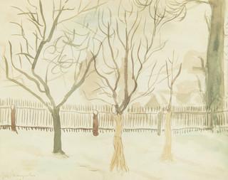 Pejzaż z drzewami, 1948 r.