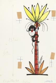 Małpka na palmie, ilustracja do Szpilek nr 31