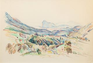Krajobraz śródziemnomorski, ok. 1930