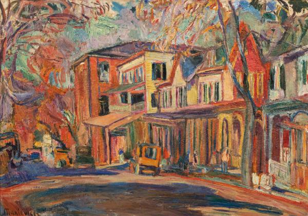 Ulica z czerwonymi domami, USA