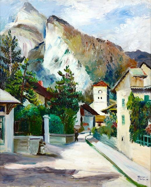 Wioska u podnóża Alp, 1929 r.