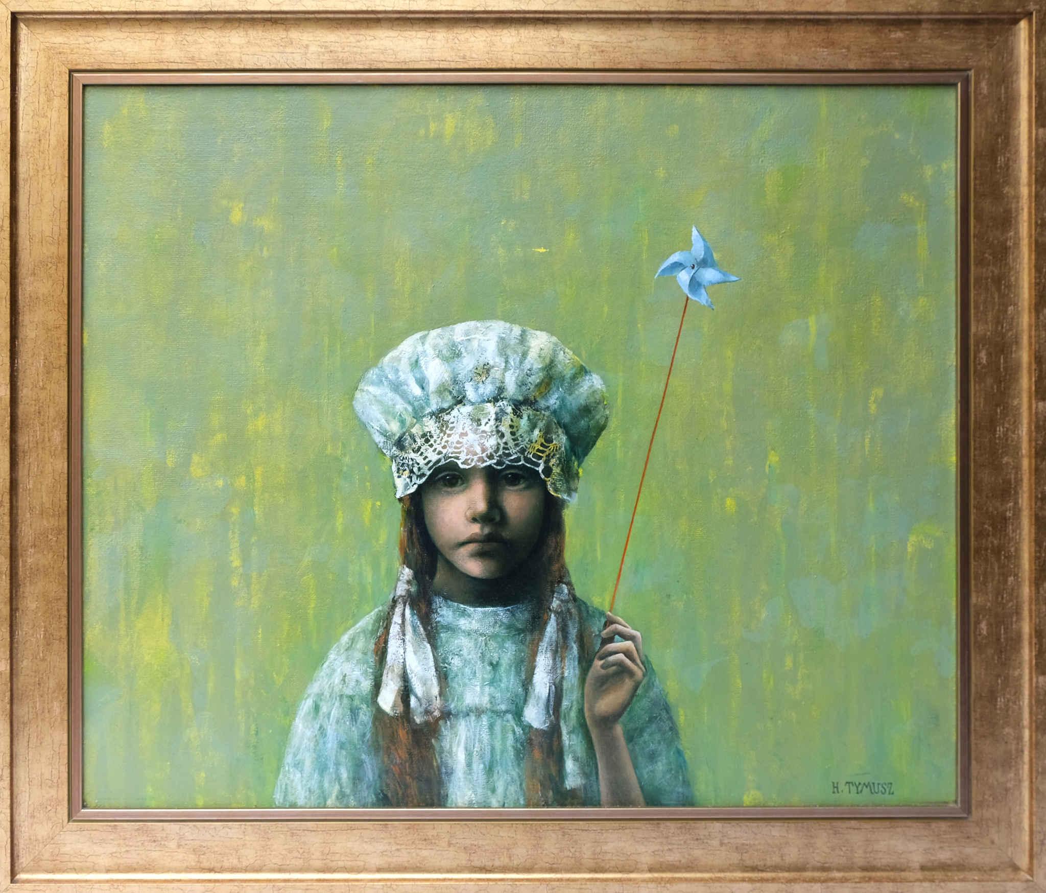Dziewczynka z wiatraczkiem