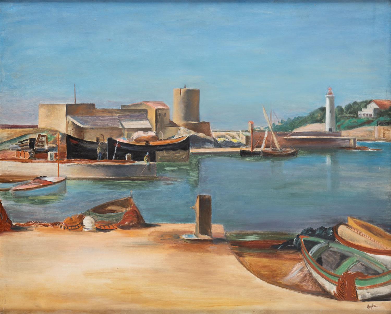 Port w Normandii, około 1938