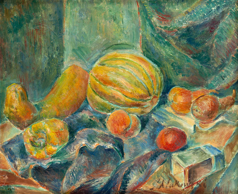 """""""Martwa natura z melonem"""", około 1913"""