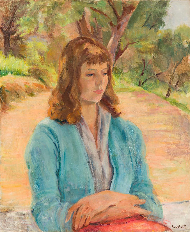 """""""Dziewczyna w krajobrazie"""" (""""Jeune fille dans la nature""""), 1957"""