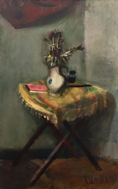 """Kwiaty na stoliku (""""Martwa natura""""), przed/lub 1933"""