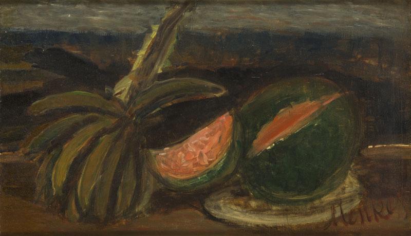 Martwa natura z arbuzem i ananasem, około 1930