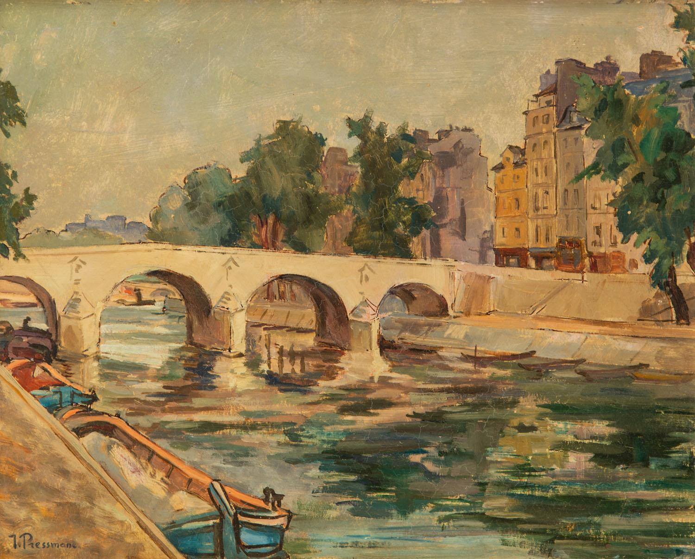 Widok na Pont Marie w Paryżu