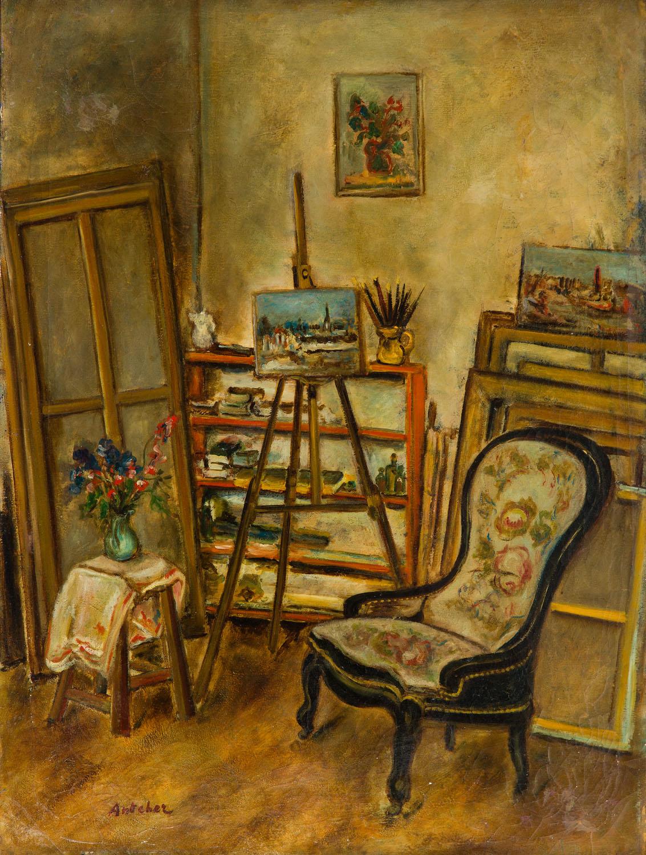 W pracowni artysty, 1932