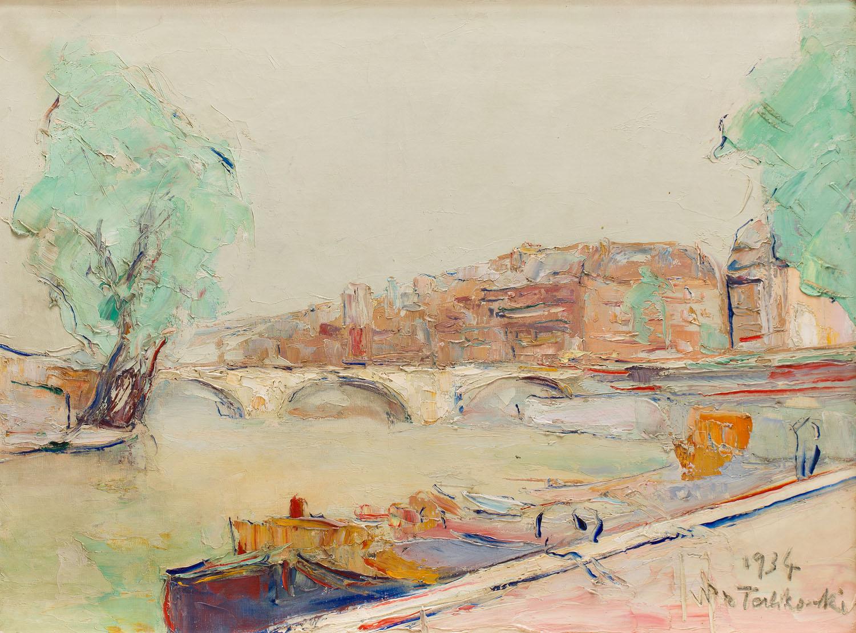 Sekwana z widokiem na Pont Neuf w Paryżu, 1934