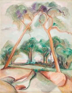 """""""Pejzaż z drzewami"""", 1948"""
