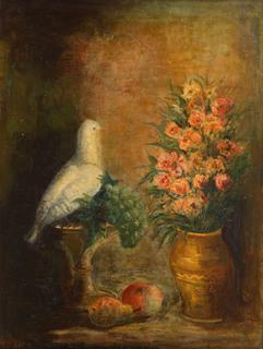 Martwa natura z gołąbkiem, około 1930