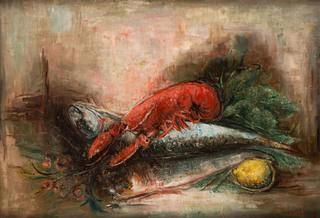 Martwa natura z homarem, około 1930