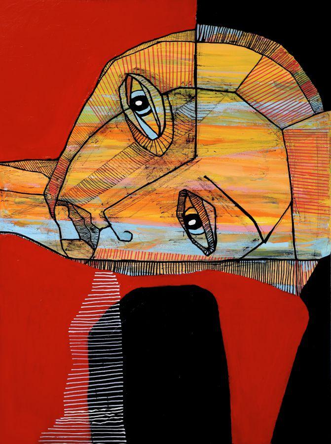 Portret czerwony, 2021 r.