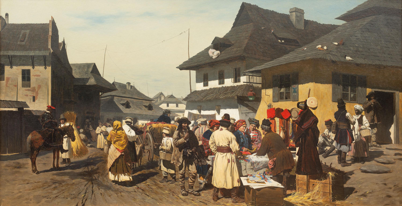 Targ w miasteczku pod Krakowem
