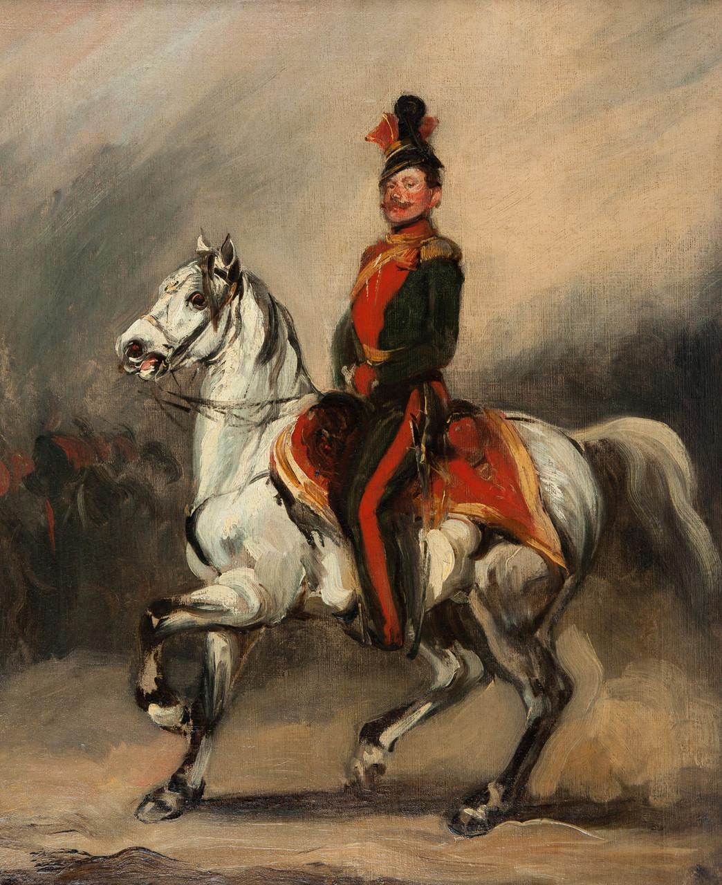 Huzar austriacki na koniu (Eustachy Dunin-Wąsowicz), ok. 1840 (?)