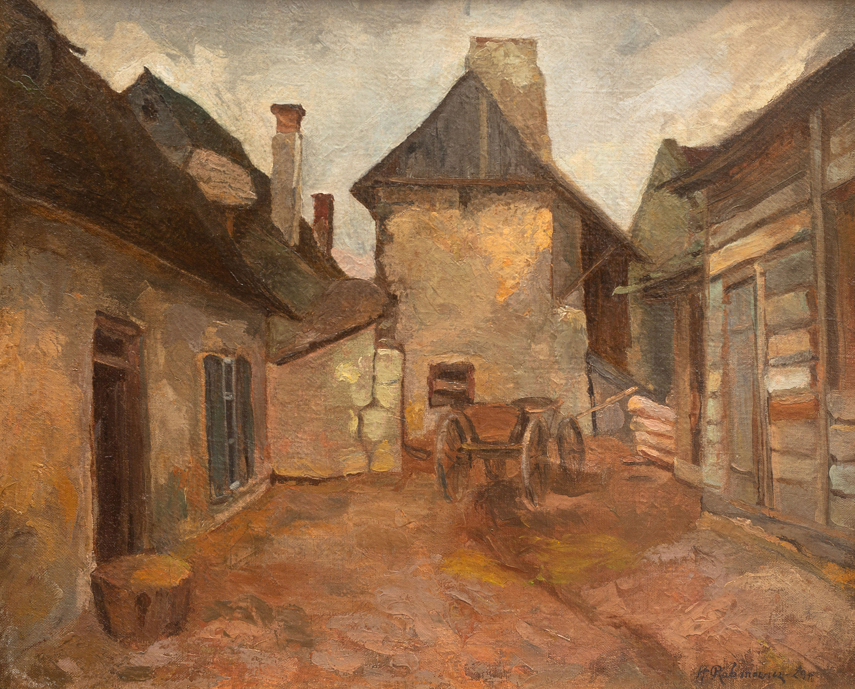 Podwórze w Kazimierzu, 1929 r.