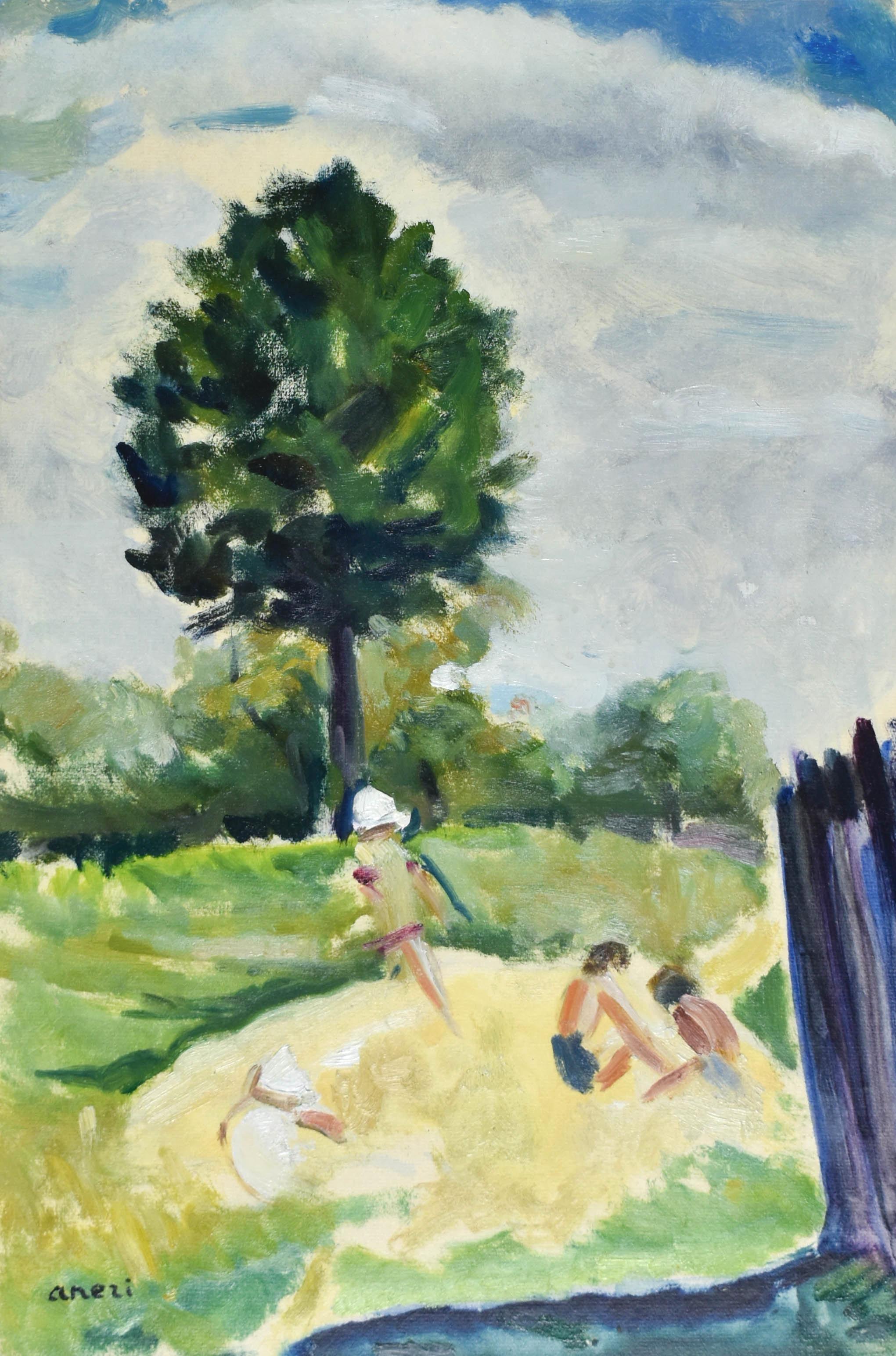 Dzieci w ogrodzie (Pejzaż)