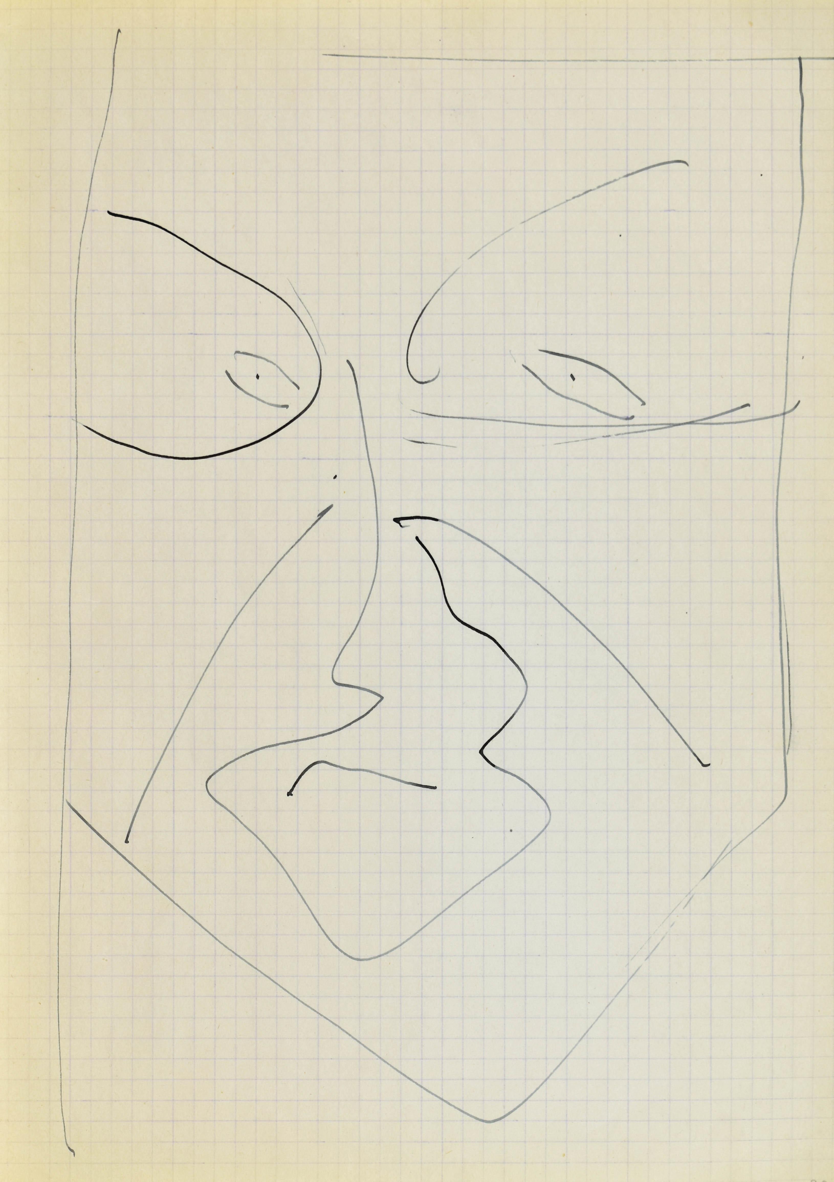 Głowa - autoportret III, 1963