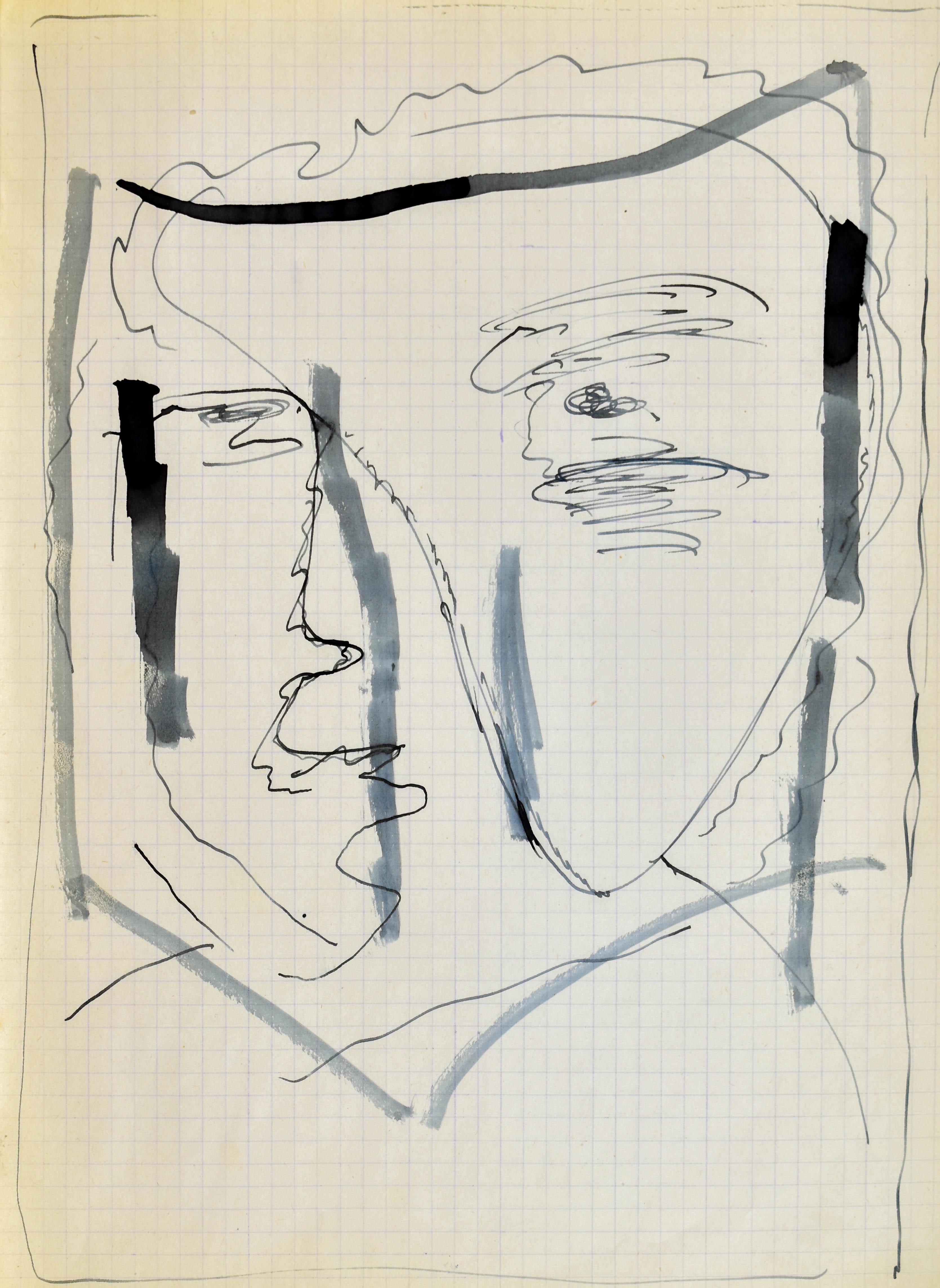 Głowa - autoportret II, 1963