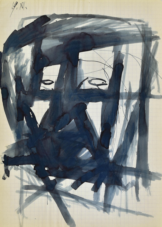 Głowa - autoportret I, 1963