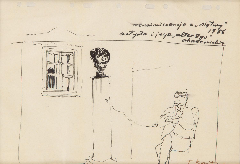 """""""Artysta i jego 'alter ego'"""", 1956"""