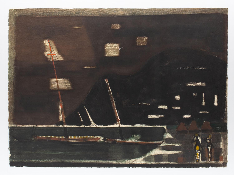 Łodzie w porcie , 1958-1961