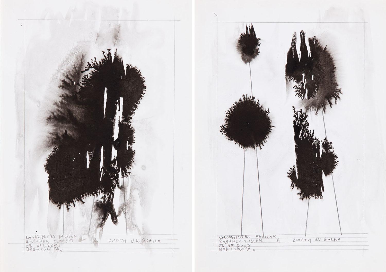 """""""Kwiaty V.V.Gogha"""" - dyptyk, 2005"""