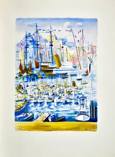 Port w Marsylii, 1950