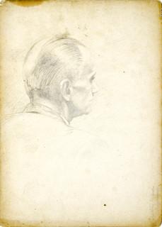 Szkic głowy mężczyzny