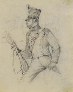 Studium ułana Księstwa Warszawskiego, ok.. 1894