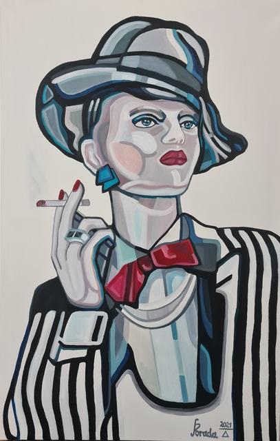 Dama z papierosem, 2021