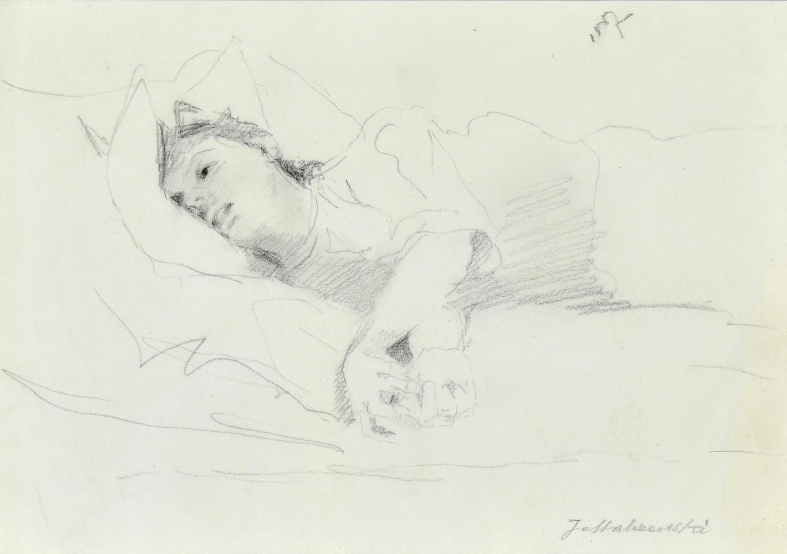 Szkic leżącej kobiety, 1887