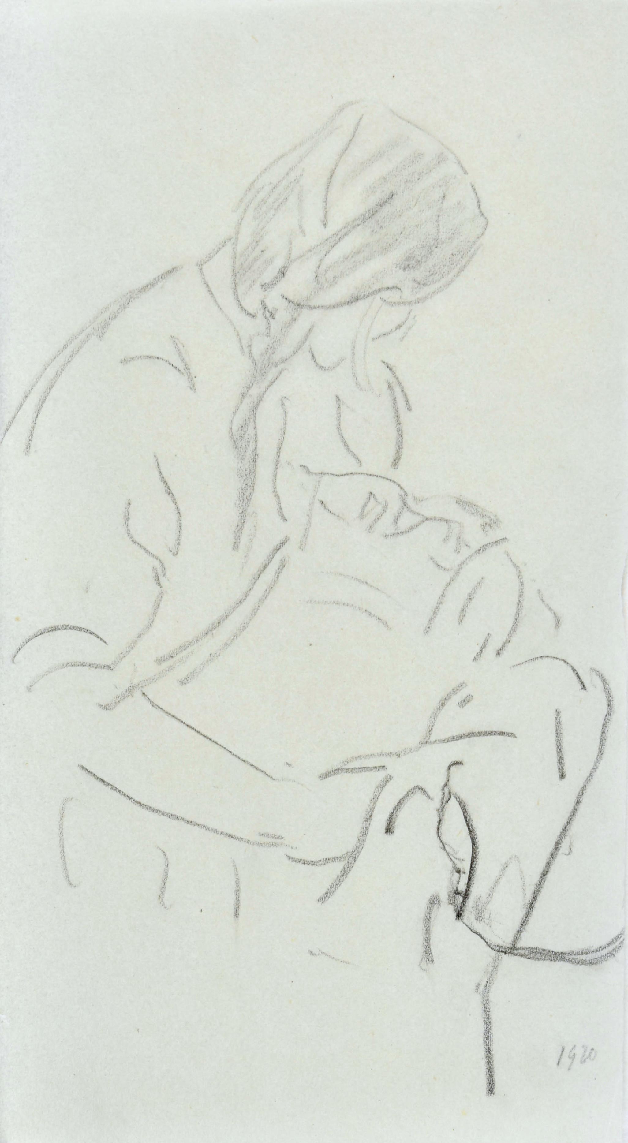 Kobieta z niemowlęciem, 1920