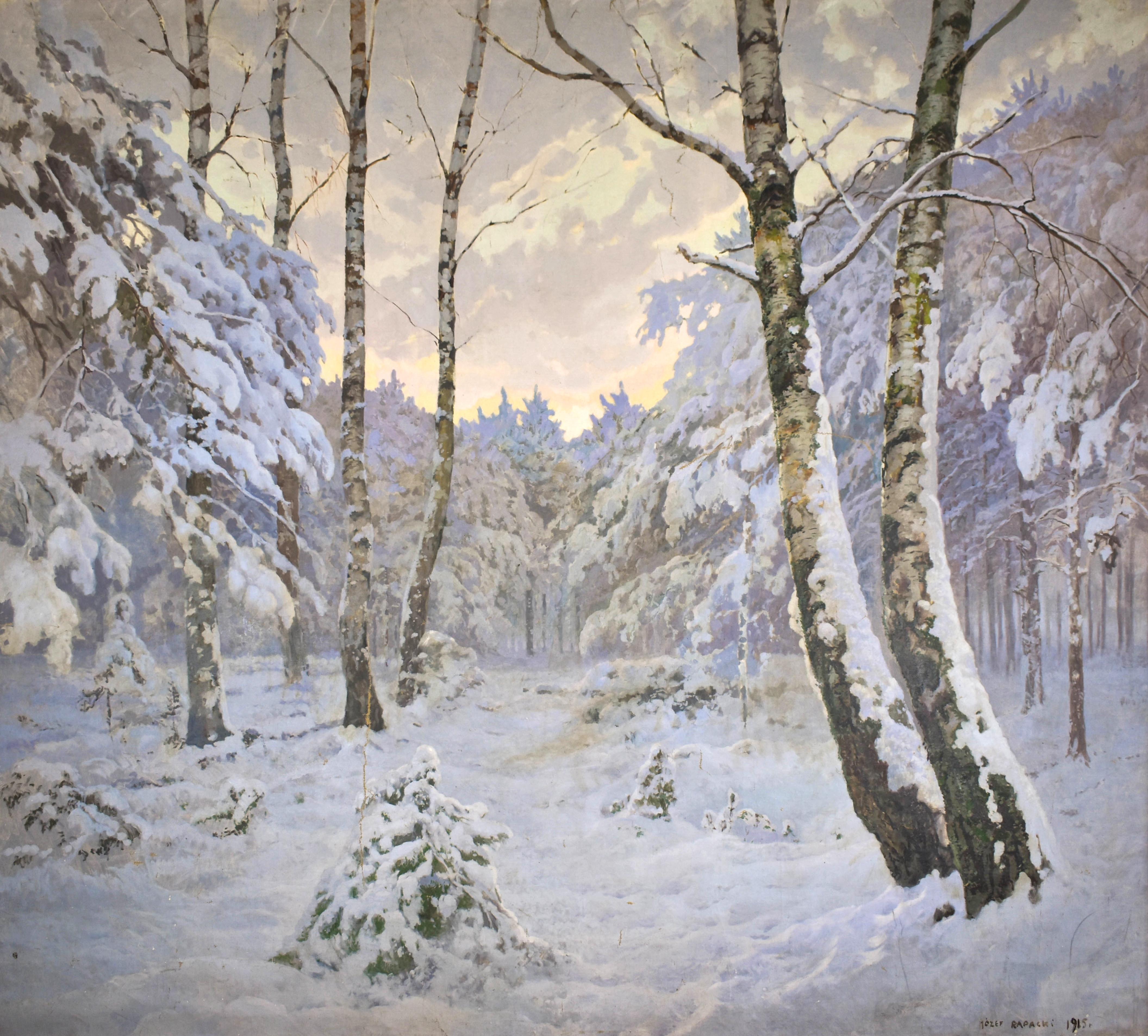 Pejzaż zimowy, 1915