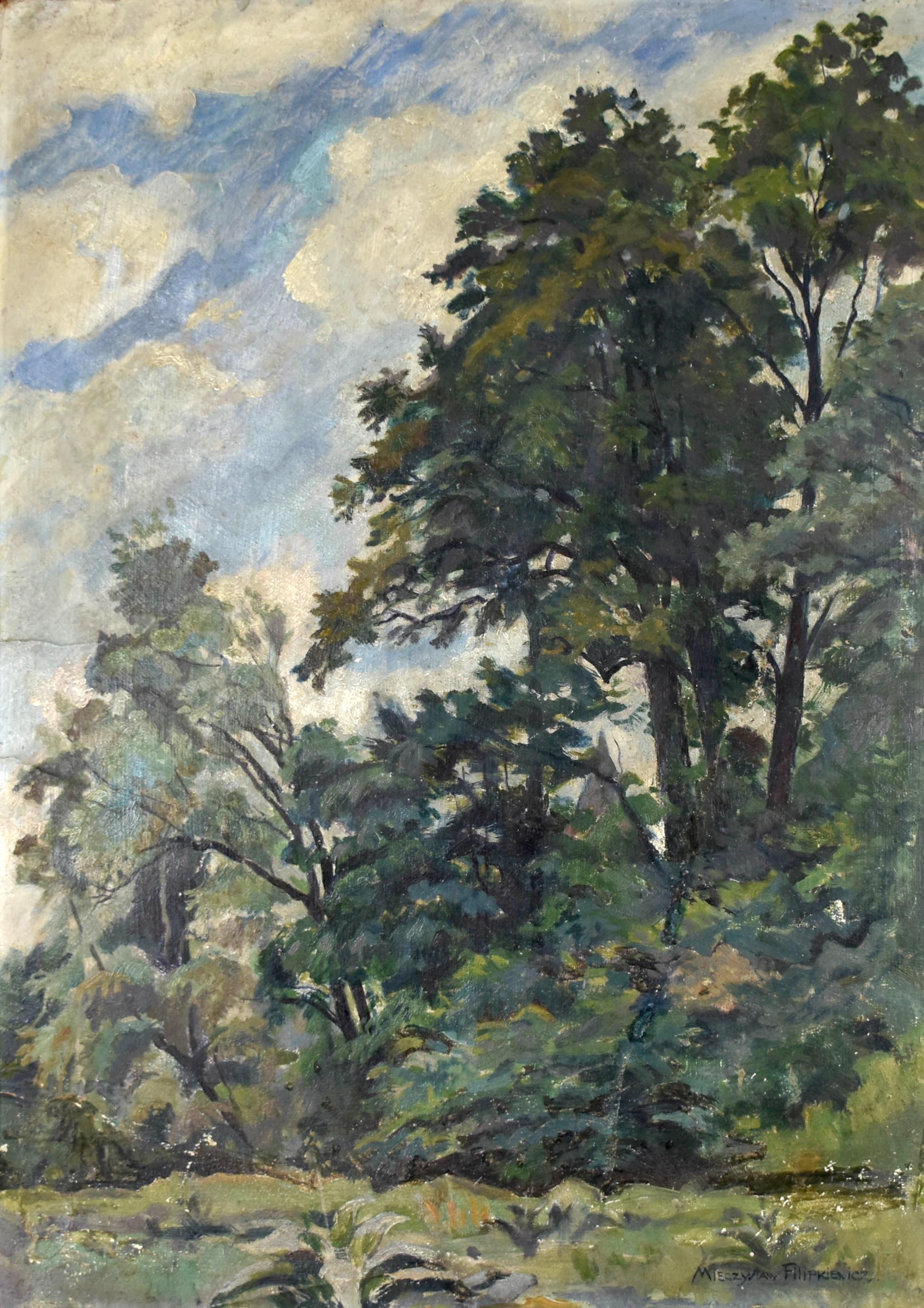 Pejzaż z drzewami