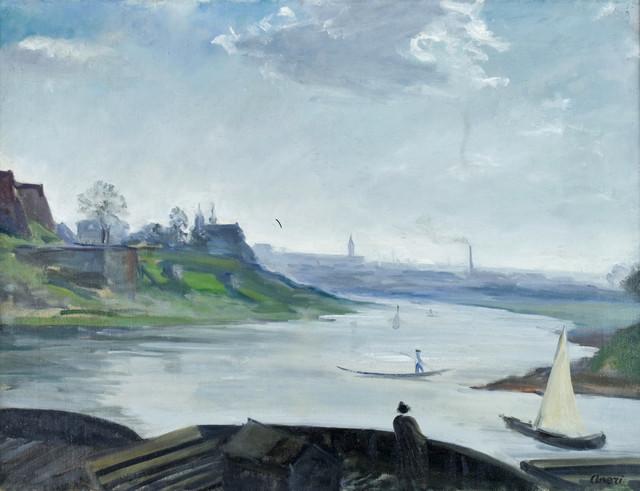 Wisła pod Wawelem, ok. 1919