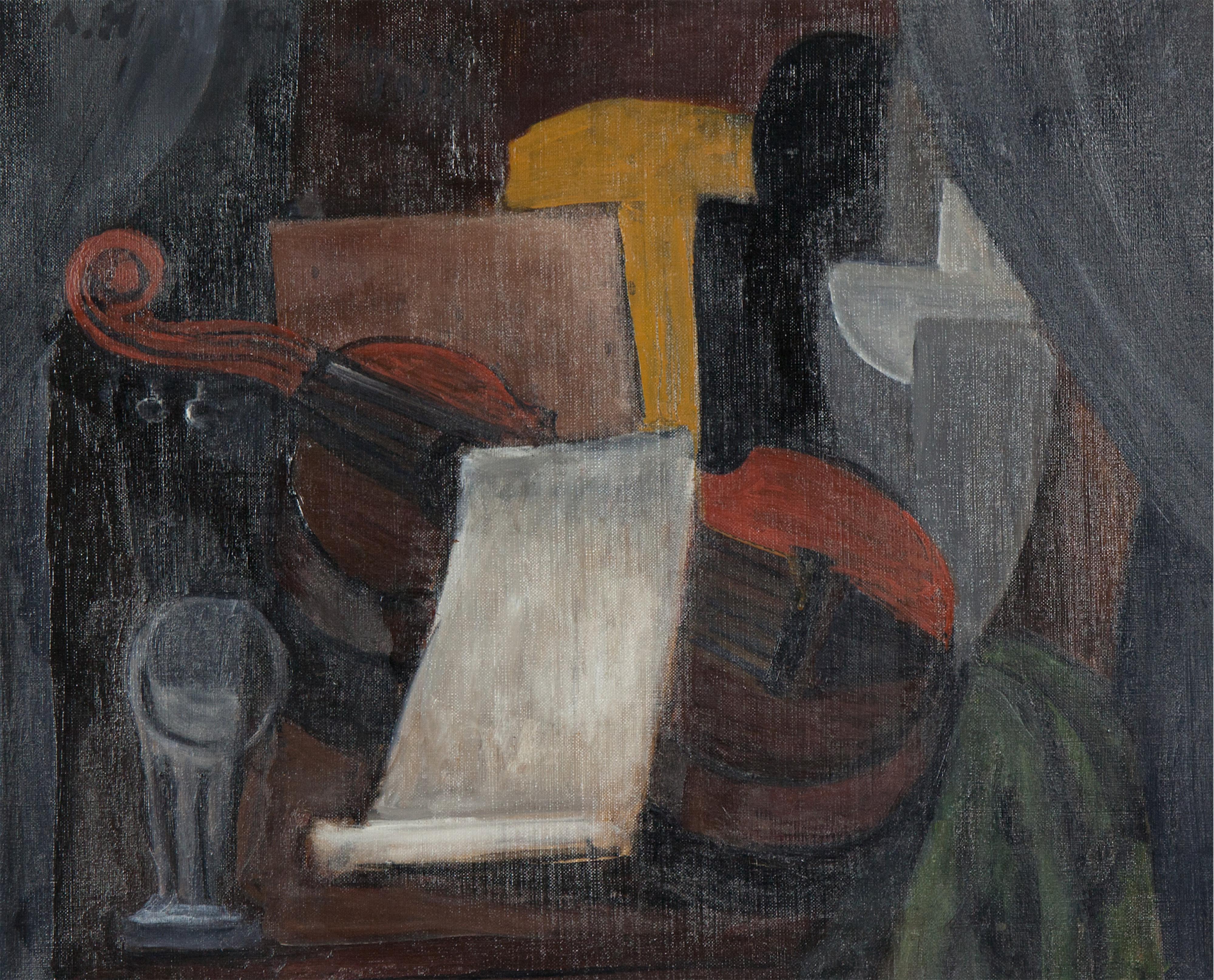 Martwa natura ze skrzypcami kubistyczna