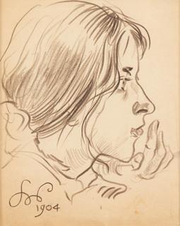 """""""Profil dziewczyny, studium"""", 1904"""