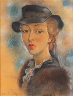 Portret kobiety w kapeluszu, 1937