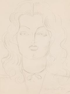 Portret kobiety z otwartymi ustami, 1950