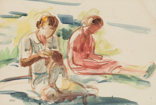 Odpoczynek na trawie II, około1920