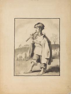 """Pastuszek (projekt ilustracji do """"Płomyka"""")"""