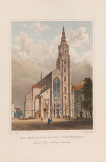 Widok katedry w Świdnicy wg. Carla Würbsa