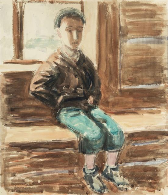 Chłopiec na ławce, 1948 r.