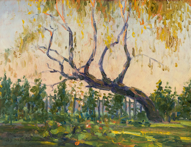 Pejzaż z drzewem, 1913 r.