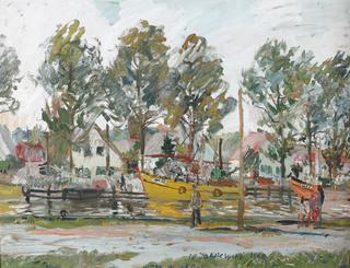 Kutry w Łebie, 1960 r.