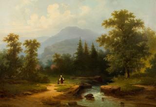 Droga nad strumieniem, 1865 r.