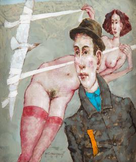 """""""Kobieta z ptakiem na uwięzi"""", 2011"""