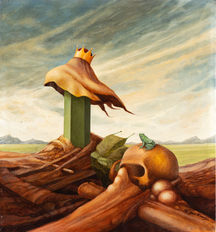 Pejzaż fantastyczny z czaszką, 1978
